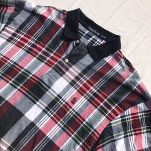 Vintage 90's Nautica Plaid Polo Shirt